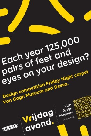 Design competition carpet Van Gogh Museum and Desso - flyer1
